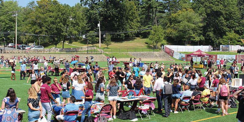Involvement Fair on Mazzella Field