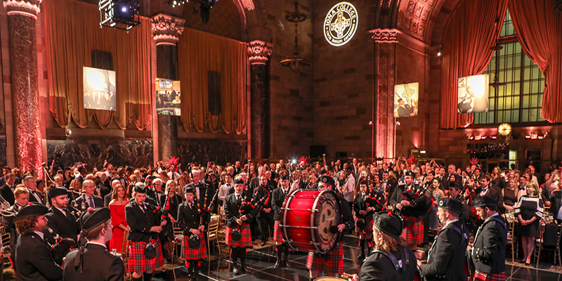 The Iona Pipers perform at the Gala.