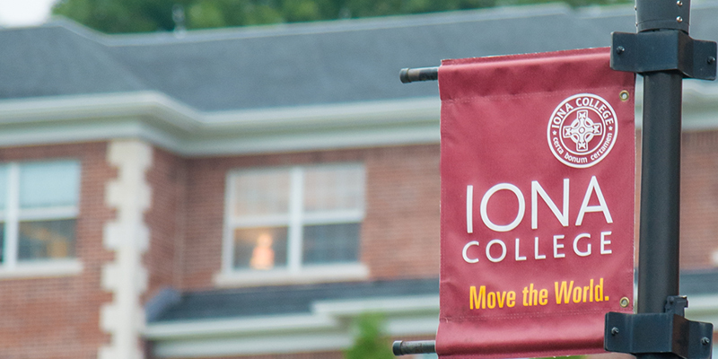 Iona banner move the world.