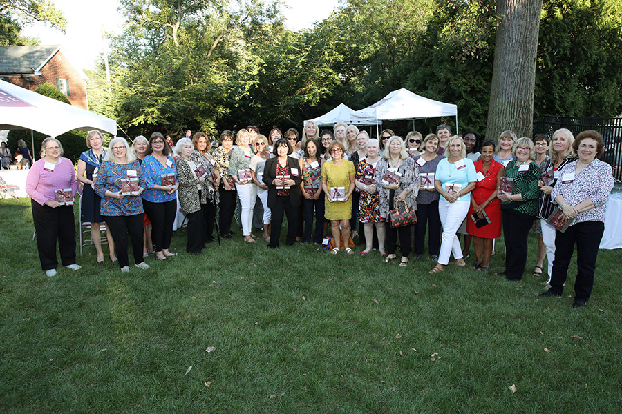 The kickoff party for 50 years of women.